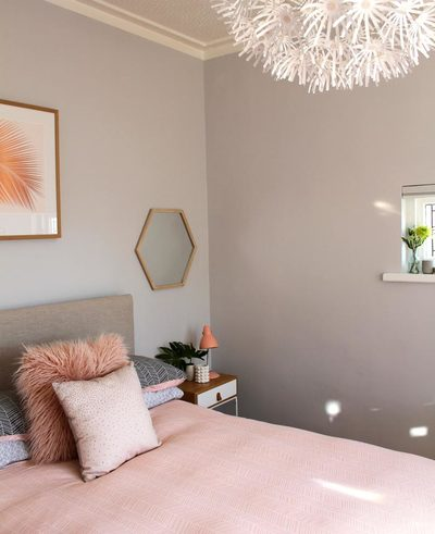 bedroom makeover north shore auckland blush pink bedroom